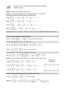 AULA 3 - Limites indeterminados
