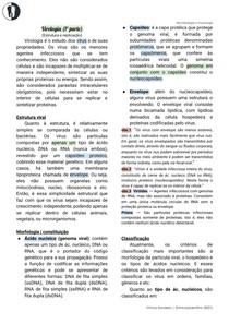 Microbiologia - Virologia (estrutura e replicação)