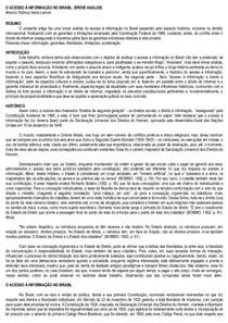 [ARTIGO] O ACESSO +Ç INFORMA+ç+âO NO BRASIL - Antonio Sidiney Vieira Lemos
