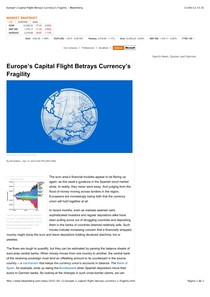 2012.04.13 - Europe's Capital Flight Betrays Currency's Fragility - Bloomberg