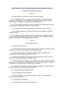 CONSTITUICÃO POLITICA DO IMPERIO DO BRAZIL 1824