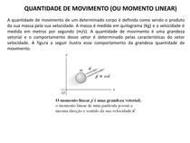 QUANTIDADE DE MOVIMENTO (OU MOMENTO LINEAR)