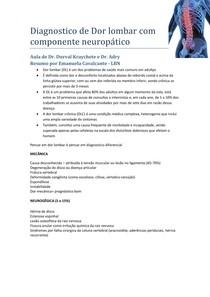 Dor lombar neuropatica
