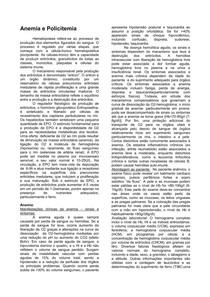 Resumo Geral de Hematologia