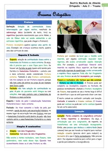 Ortopedia - Aula 3 - Trauma ortopédico