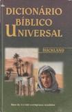 Dicionário Bíblico Universal - Buckland