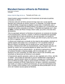 Marubeni banca refinaria da Petrobras