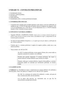 Unidade Vi Contrato Preliminar Direito Civil Iii