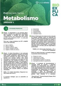 EXERCÍCIOS DE METABOLISMO