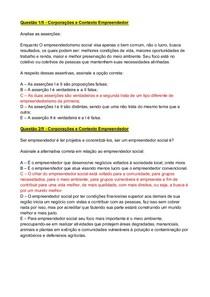 Apol 5 - Modelo 1 - Corporações e Contexto Empreendedor e Instituições e Organização do Estado