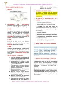 Resumo para prova Evolução do Pensamento Administrativo - 2° Bimestre
