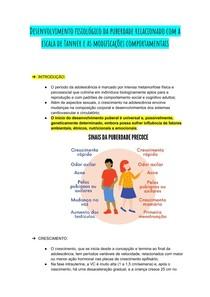 Desenvolvimento fisiológico da puberdade relacionado com a escala de Tanner e as modificações comportamentais