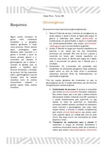 Gliconeogênese - Resumo