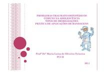 PROBLEMAS TRAUMATO-ORTOPEDICOS COMUNS NA ADOLESCENCIA - 2012