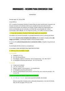 Imunidades - resumo para concurso e oab