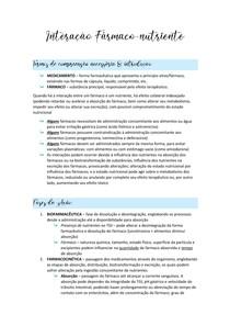 Interação Fármaco-Nutriente (Dietoterapia)