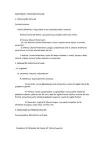 Oftalmo - ANATOMIA E FISIOLOGIA OCULAR