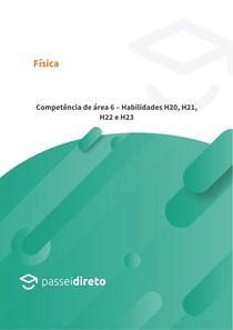 Competência de área 6 Habilidades H20, H21, H22 e H23