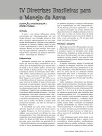 IV diretrizes brasileiras para o manejo da asma
