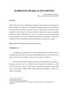 Paper 3 - Marketing de Relacionamento - Patrícia Monteiro de Sousa F