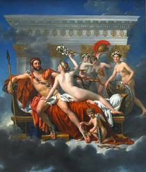 Jacques Louis David - Mars Being Disarmed by Venus and the Three Graces