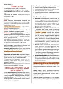 introdução à farmacologia + desenvolvimento de novos fármacos