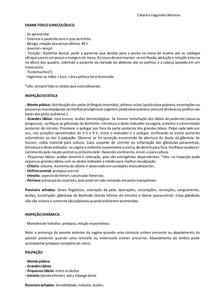 ROTEIRO Exame Físico Ginecológico