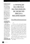 A invensão da cç na psicanálise de Freud a Klein