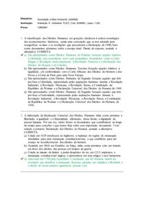Avaliação II - Sociedade e Meio Ambiente