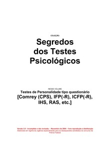 Testes de personalidade Aprender CPS IFPR IHS