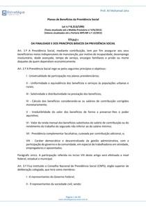 INSS - LEI 8.213/1991 - ESQUEMATIZADA - 2015