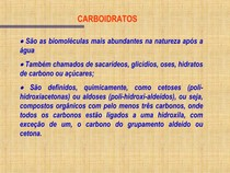 [Bioquímica] Aula de Carboidratos
