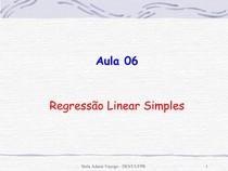 regressão linear