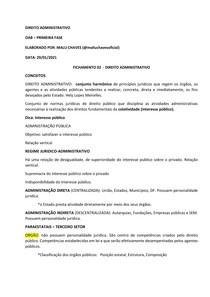 FICHAMENTO - ADMINISTRATIVO