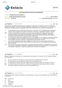 Simulado - Fundamentos do Direito do Consumidor
