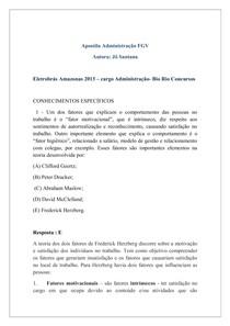 Questões Administração Fgv Jô Santana Concursos