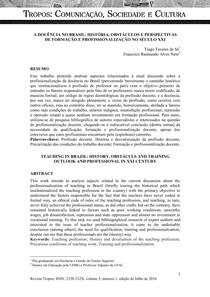 A docencia no Brasil Seculo XXI   TCC