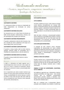Aleitamento materno (técnica, import., composição, imunologia, fisiologia da lactação)