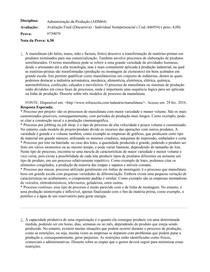 Avaliação Final (Discursiva) - Administração da Produção (ADM64)