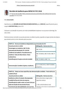 Revisão de Auditoria para SEFAZ SC FCC 2018   Dica do professor Tonyvan de Carvalho