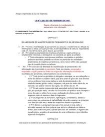 Artigos importante da Lei de Imprensa