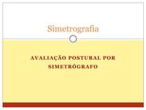 Aula 11 - Avaliação Postural por Simetrografia