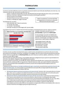 Puericultura (aleitamento, crescimento, imunização) -