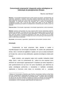 Artigo Comunicação Empresarial