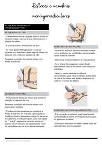 Reflexos e manobas meningoradiculares