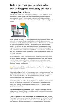 Tudo o que você precisa saber sobre host de blog para marketing político e campanha eleitoral