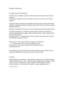 Fisiologia Cardiovascular - Resumo