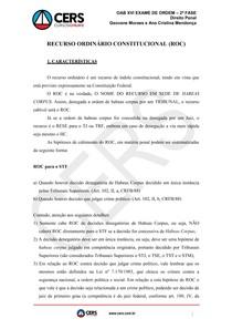 Recurso Ordinario Constitucional Oab 2