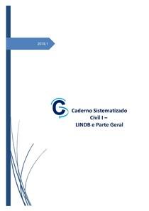 Direito CIVIL I   LINDB E PARTE GERAL 2018.1