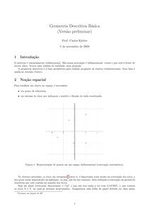 RESUMO - Geometria Descritiva Básica
